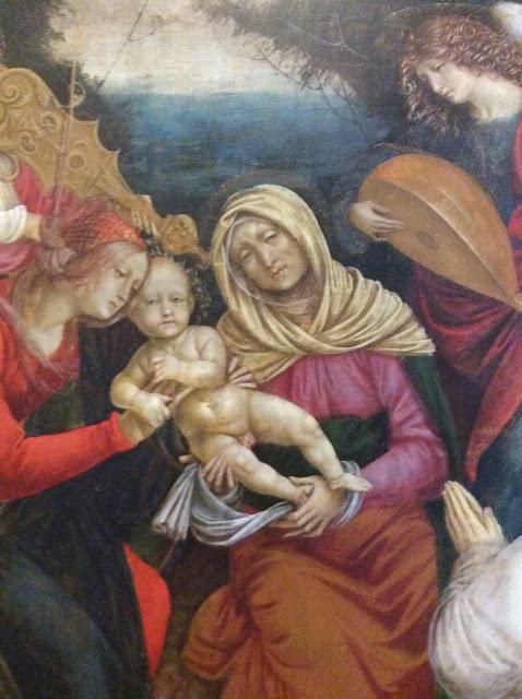 Г. Феррари. Святая Анна, с младенцем Христом и Богородицей