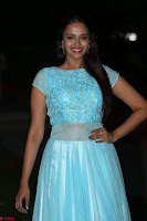 Pujita Ponnada in transparent sky blue dress at Darshakudu pre release ~  Exclusive Celebrities Galleries 131.JPG