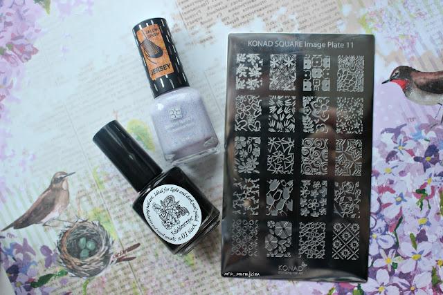 Brigitte Bottier Jersey 222 + stamping Konad Image Square 11