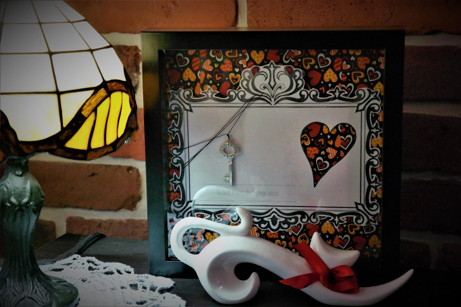 """Walentynkowy obrazek """"Klucz do mojego serca"""" - DIY"""