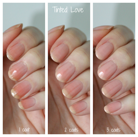 Tinted Love Will Actually Enhance And Show Off Yellow Staining Instead Of Combating It Although If You Get 3 Coats On Your Nails There S No
