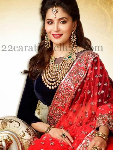 Madhuri Dixit Png Kundan Haar Jewellery Designs