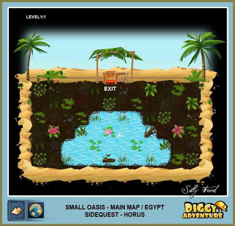 Diggy's Adventure Walkthrough: Egypt Main / Small-Oasis