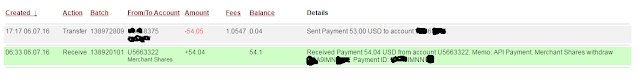 Merchant Shares Payment proof