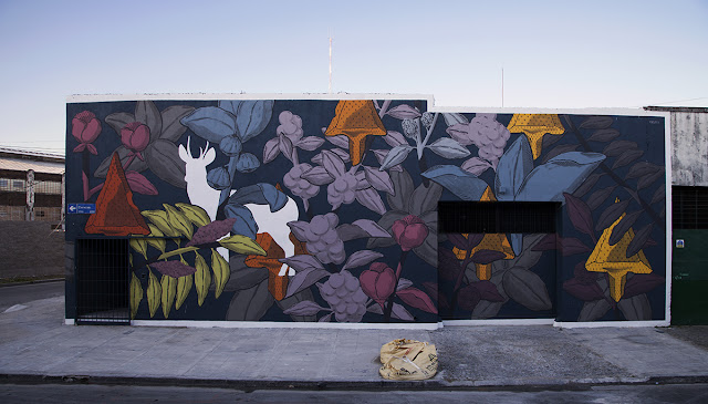 Our friend Pastel just sent us some images from his latest mural which was recently finished on the streets of his hometown, Buenos Aires.