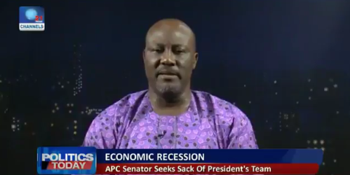 Economic recession: Dino Melaye says Minister of Finance, Kemi Adeosun is incompetent