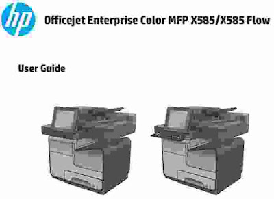 HP Officejet Enterprise Color MFP X585 Manual