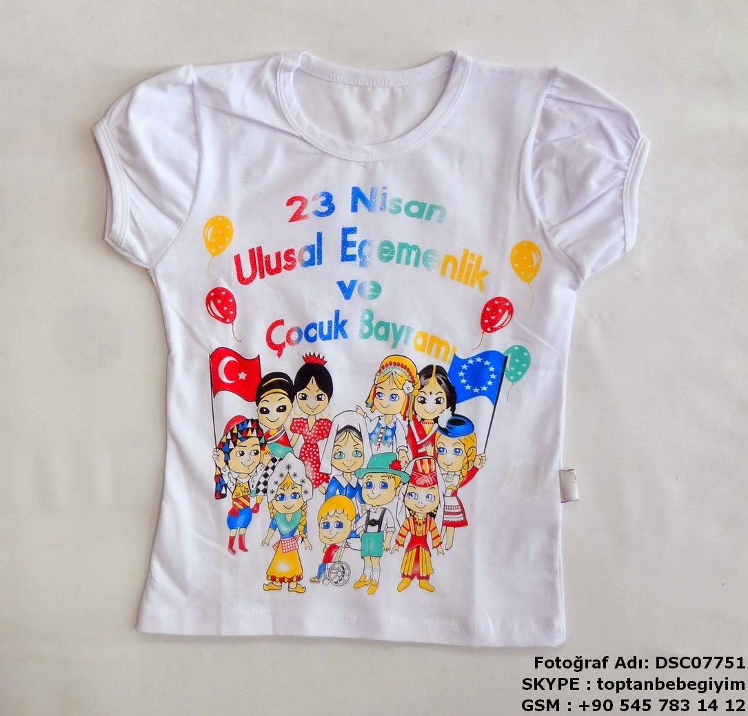 23 nisan çocuk tşört - t-shirt toptan satış