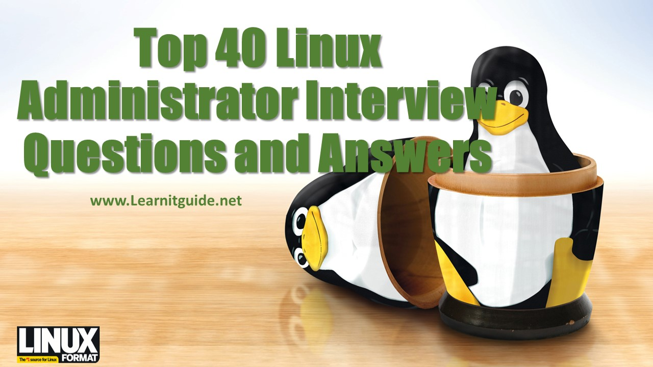 top linux administrator interview questions and answers
