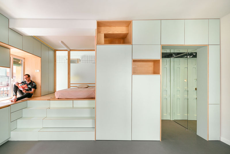 modern-small-apartment-interior-090318-1243-01 The Design Of This Renovation Small Apartment Includes Many Creative Storage Solution Ideas Interior