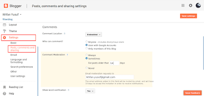 Cara Mencegah Komentar Spam di Blogspot