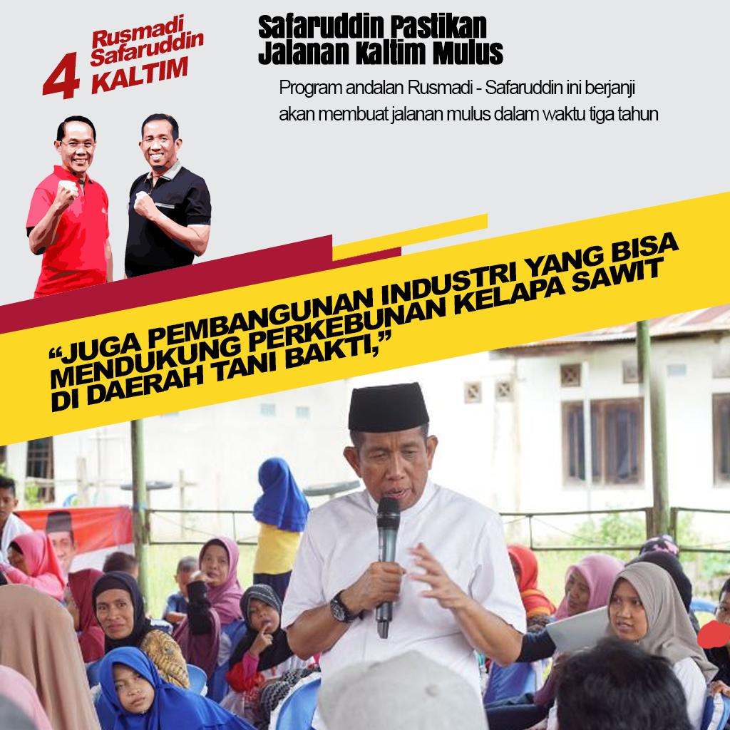 """Safaruddin : """"3 Tahun Jalan Di Kaltim Mulus"""""""