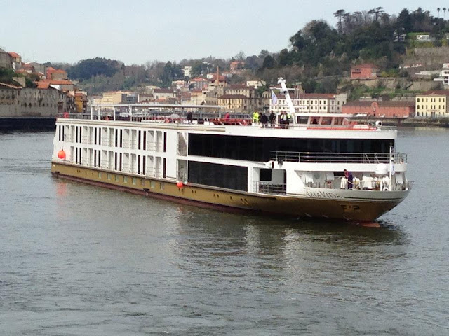 AmaWaterways' AmaVida cruises into Porto, Portugal! Photo: Courtesy of AmaWaterways. Unauthorized use is prohibited.