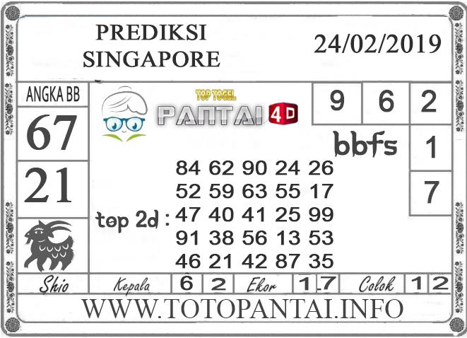 """Prediksi Togel """"SINGAPORE"""" PANTAI4D 24 FEBRUARI 2019"""