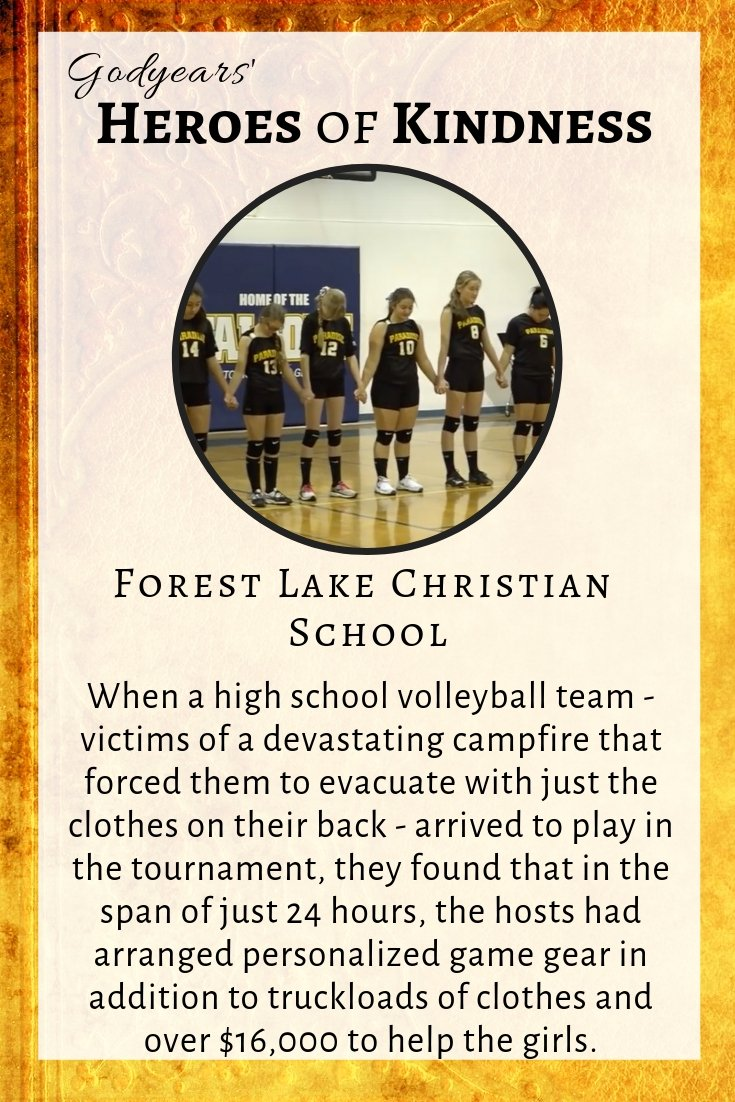 Arriving immediately after a horrible fire forced them to evacuate their homes, the high school volleyball team received an amazing surprise from their hosts, the Forest Lake Christian School