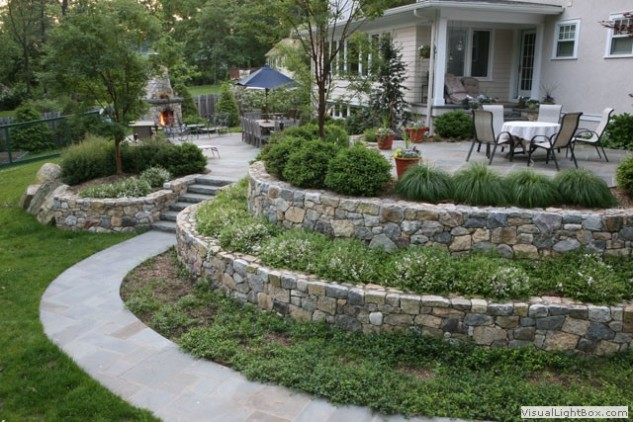 25 awesome sloped backyard design ideas that will inspire for Pool design sloped yard