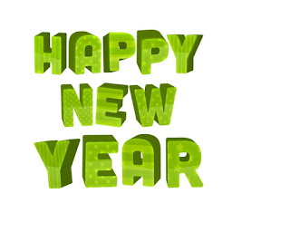 Happy New Year text with holiday background - 08