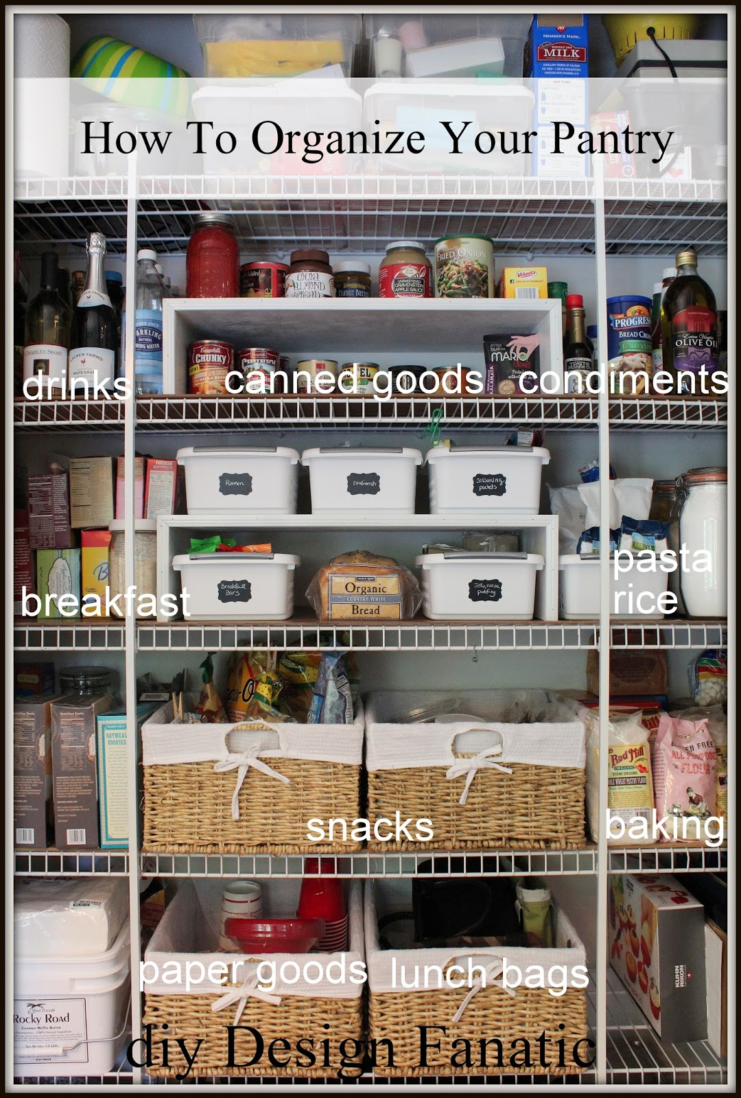 You Can See How I Organized Our Previous Pantry Here