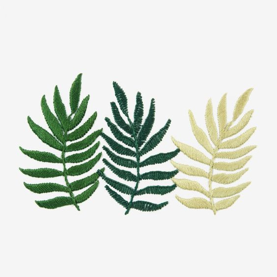 Triple Fern free pattern by Sew and Saunders on DMC site