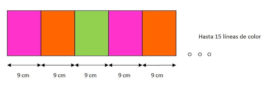 mis nancys, mis peques y yo, tutorial bufanda tricolor patrón gratis 2