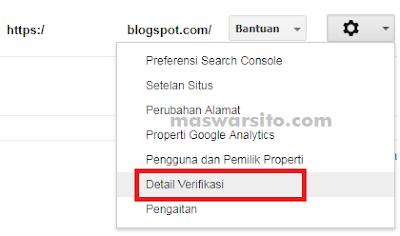 Cara Mendaftar dan Verifikasi Webmaster Tools Pada Blogspot