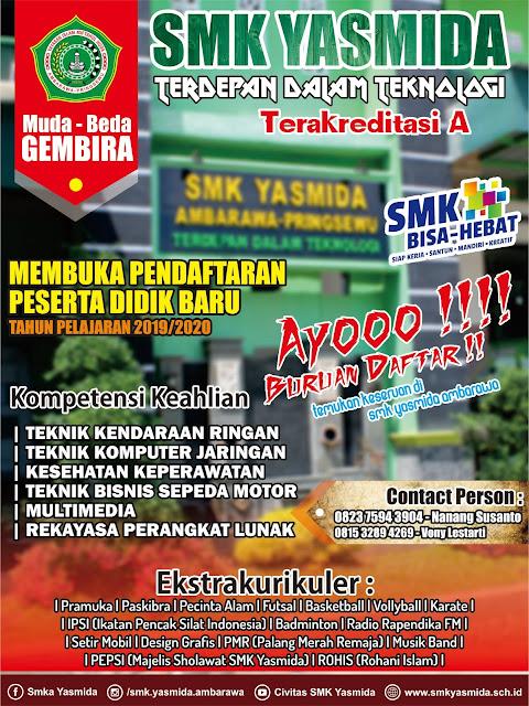 Desain Brosur Sosialisasi SMK Yasmida Ambarawa Simple