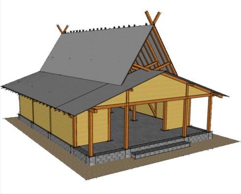 Model Rumah Adat Sunda julang ngapak