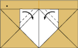 Step 8: Fold in the dotted line