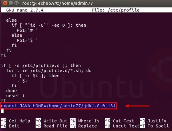Mensetup path jdk pada linux ubuntu