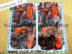 garskin, skin, skotlet, stiker, gambar tempel, handphone samsung S3  custom batu bata artistik atau arsitektur