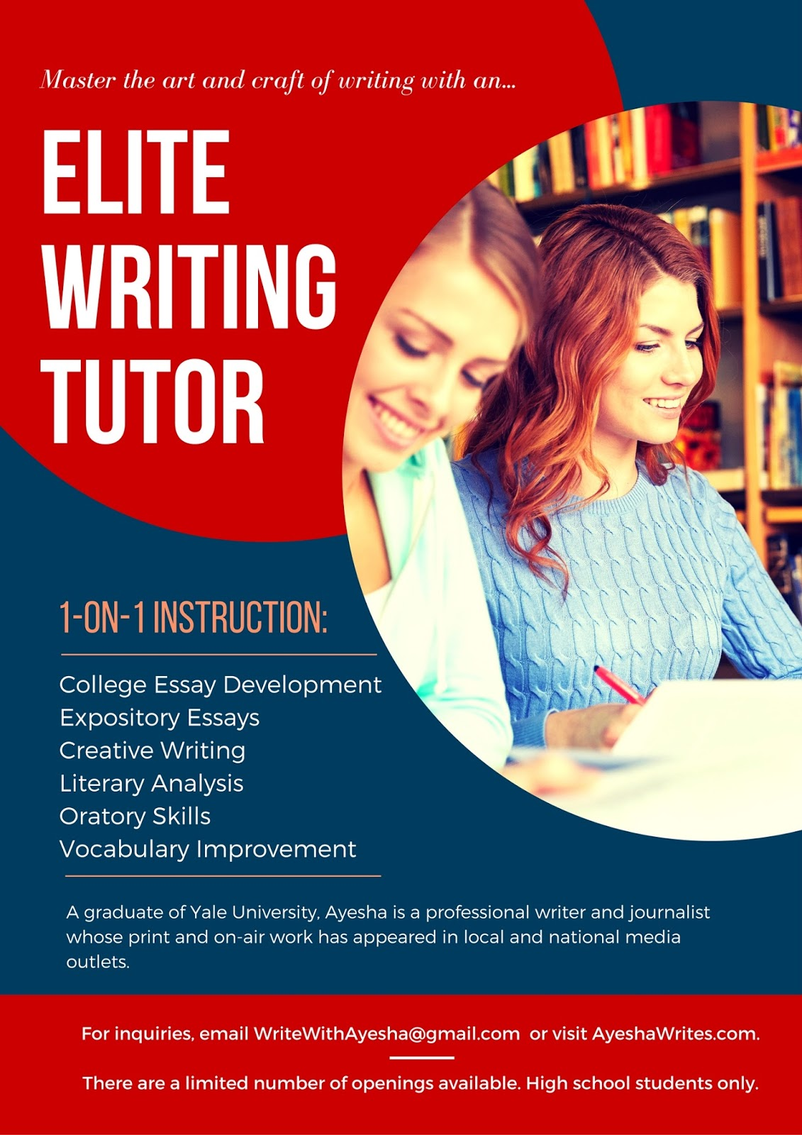 college essay on creative writing The essay is the most important part of a college appllication, see sample essays perfect for applying to schools in the us  sample college admission essays this section contains two examples of good college essays  i aided in designing a study, writing an institutional review board (irb) application, running participants through both.