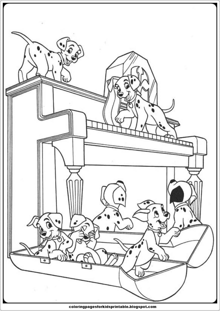 free101 dalmation coloring pages - photo#18