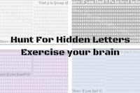 Hunt For Hidden Letters - Exercise your brain