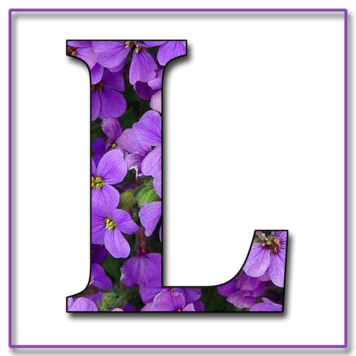 Jo's Purple floral alphabet - Polyvore