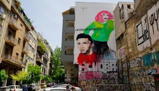 Τεράστιο γκράφιτι για τον Ζακ Κωστόπουλο στα Εξάρχεια