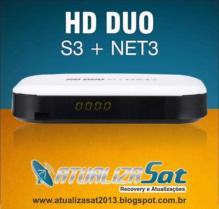Atualiza Sat: Nova Atualização HD DUO S3 + NET3