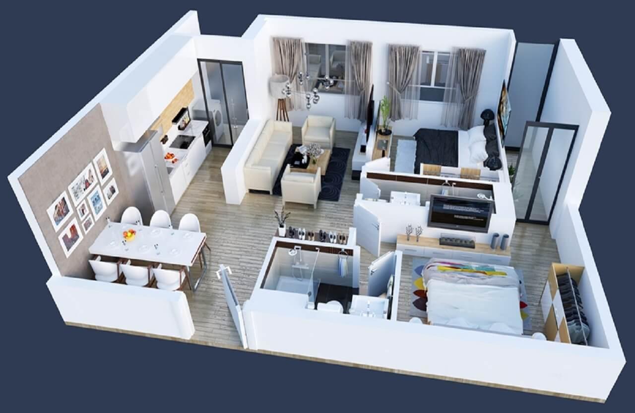 thiết kế căn hộ goldseason tòa spring