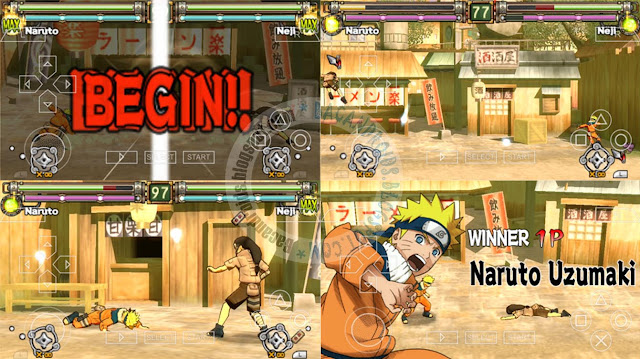 Game Naruto Ultimate Ninja Heroes ISO Compress PPSSPP Android