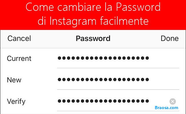 Come cambiare la password Instagram dimenticata facilmente