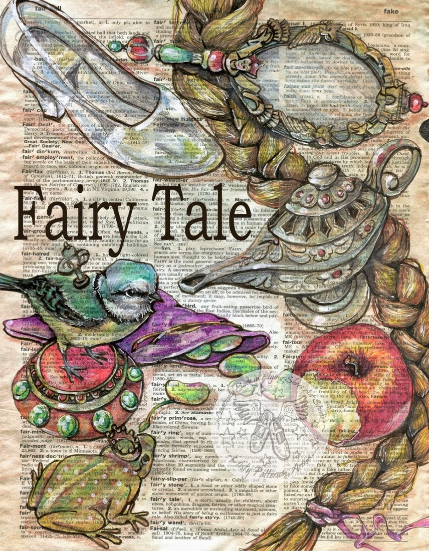 11-Fairy-Tale-Kristy-Patterson-Flying-Shoes-Art-Studio-Dictionary-Drawings-www-designstack-co