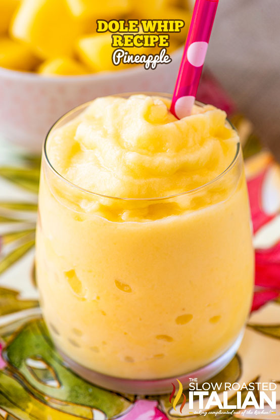 Disney Dole Whip in a glass