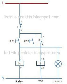 Diagram kontrol desain saklar staircase