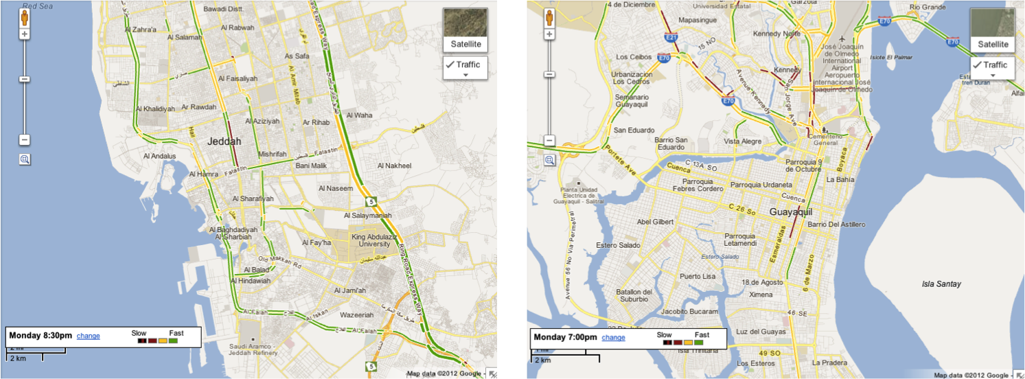 Google Lat Long Live Road Traffic Launches In 3 New Countries