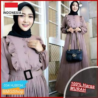 HJB034 Dress Khenca Muslim Plisket BMGShop