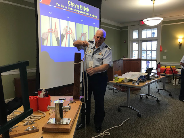 John Fisher shows how to do a clove hitch.