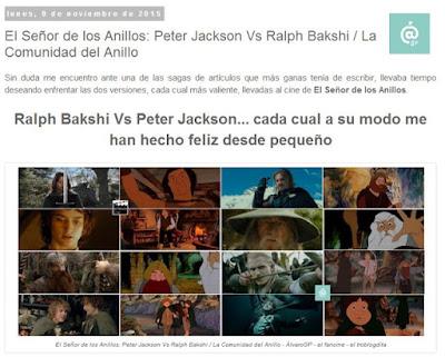 Lo + leído en el troblogdita - enero 2016 - ÁlvaroGP - Álvaro García - El Señor de los Anillos: Peter jackson Vs. Ralph Bakshi / La Comunidad del Anillo