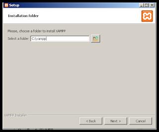 Pilih Folder Instalasi XA