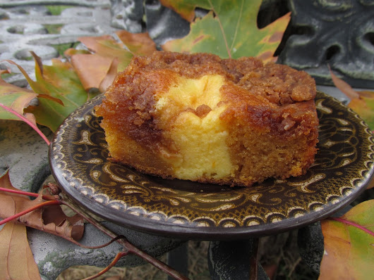 Gift from the Garden: Butternut Squash Cake with Cream Cheese Filling and Streusel Topping