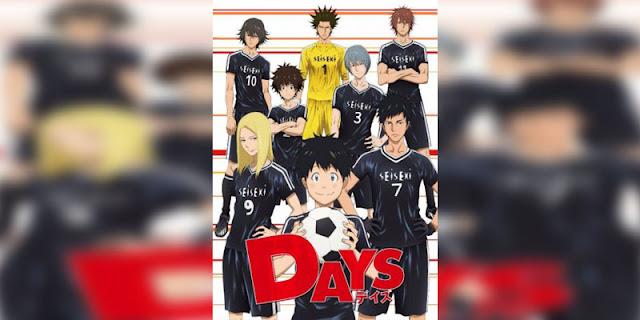 Rekomendasi anime Sports bertemakan Sepak Bola Terbaik days