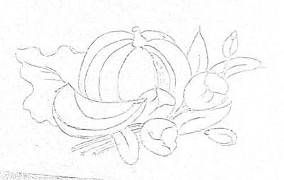 risco para pintar moranga e tulipas